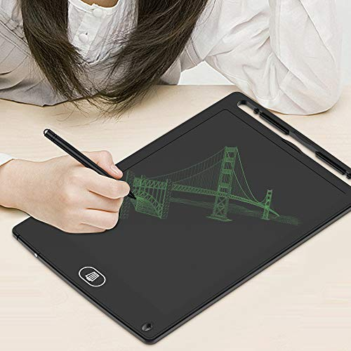 LCD Writing Tablet, TIQUS 8.5 Inch Digital Electronic Graphics Tablet Ewriter with Anti Screen Lock Mini Board Handwriting Pad Suitable for Kids and Adults Middle Stylus (Black)