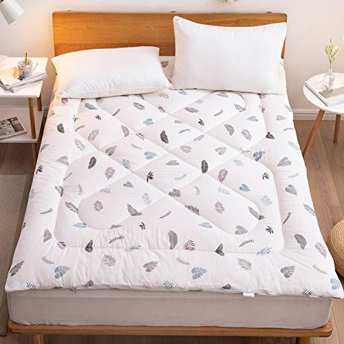 LXSHMF Dormir Tatami Colchón De Futón,Soltero Doble Plegable Futón Colchón Tatami Suave Grueso Japonés Dormitorio Estudiantil Esteras-Blanco 90x200cm