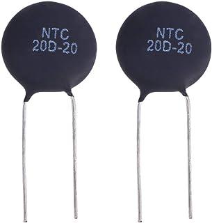 ULTECHVO Kit de 2 peças de resistores NTC20D-20 Termistor Capacitor Kit Resistor para Equipamentos Eletrônicos
