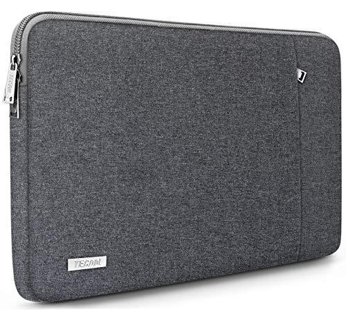 TECOOL Laptop Tasche Hülle für 12,3 Zoll Surface Pro 7/6/5/4, 2018 2019 2020 MacBook Air/Pro 13, 12,9 iPad Pro, HP Envy 13 Notebooktasche Schutzhülle Hülle Sleeve, Dunkelgrau