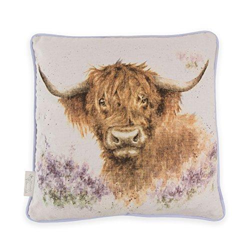 Wrendale Designs Coussin de Vache Motif Highland Heathers