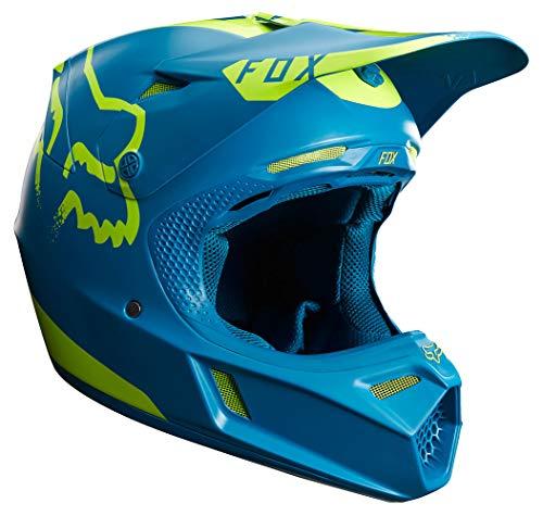 FOX V3 Moth Limited Edition Motocross Helm 2017 - Teal blau