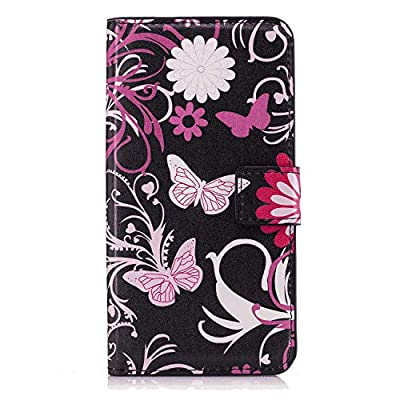 Huawei P20 LITE Flip Case, Cover for Huawei P20 LITE Leather Premium Business Kickstand Card Holders Wallet Cover with Free Waterproof-Bag