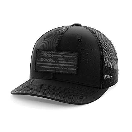 Tactical Pro Supply American Flag Flexfit Hat-USA Cap Phantom Flag Patch Flexfit Black (Large/X-Large)