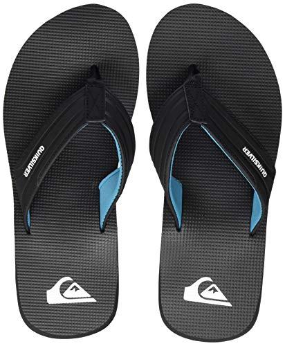 Quiksilver Crystal Oasis, Zapatos de Playa y Piscina Hombre, Negro (Black/Black/Blue Xkkb), 45 EU