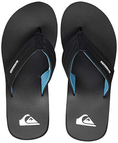 Quiksilver Crystal Oasis, Zapatos de Playa y Piscina para Hombre, Negro (Black/Black/Blue Xkkb), 45 EU