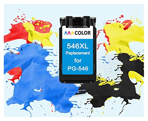 TZZD Cartucho de Color Tri ColoInk PG545 CL546 Negro Tinta for Canon PG 545 CL 546 Pixma IP2850 MG2450 MG2550 MG2950 MX495 Impresora NS28 (Color : 1 Pack Color)