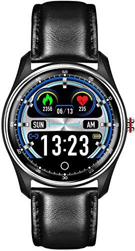 ZHENAO Reloj Inteligente, Pantalla de Color Táctil Completa de 1.22 Pulgadas, Pulsera Deportiva Impermeable con Recordatorio Inteligente Y Monitoreo Del Sueño, para Android Y Ios. E