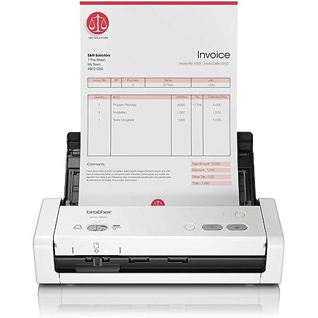 Brother ADS-1200 - Escáner departamental compacto y potente (hasta 50 ppm, resolución óptica hasta 600 x 600 ppp, ranura para tarjetas plásticas de identificación) blanco