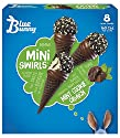 Blue Bunny Mini Swirls Mint Cookie Crunch Ice Cream Cone, 8 Ct (frozen)