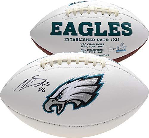 Miles Sanders Philadelphia Eagles Autographed White Panel Football - Fanatics Authentic Certified - Autographed Footballs