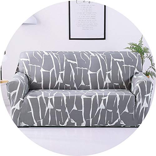 Little Happiness- Elastic Sofa Cover Printed Flowers Slipcover Tight Wrap All-Inclusive Corner Sofa Cover Stretch Furniture Covers 1/2/3/4 Seater,Color 19,2seater 145-185cm