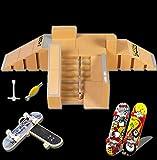 Aestheticism Finger Board Skate Park, Skate Park Kit 5PCS Skate Park Kit Ramp Parts for Te Da Finger Skateboard Ultimate Parks Training Props. (5PCS)¡