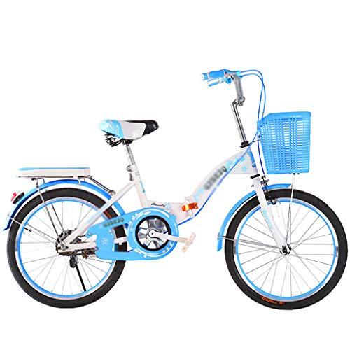 LYNNDRE Bicicleta Plegable sin Cambio de Velocidad, Bicicleta Ligera y compacta para...