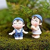 Figuras de Anmine Estatua DIY Mini Taburete Parejas Muñecas Jardín de Hadas Miniaturas Decoración Casa de muñecas Micro Paisaje Anime Juego de Dibujos Animados Personaje Modelo Estatua