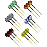 18-Pack Premium Professional Steel Tip Darts with 4 Extra Flights