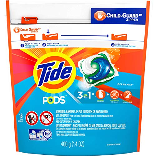 Tide Ocean Mist Scent Laundry Detergent Pod 16 pk