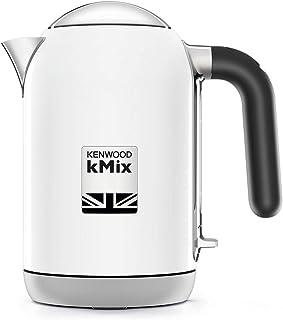 Kenwood kMix - Tetera eléctrica (1 L, 2200 W, Blanco, Metal, Indicador de nivel de agua, Protección contra sobrecalentamiento)