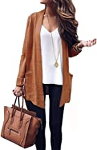 VINCINEY Women's Long Sleeve Loose Fit Knitted Cardigan Sweaters Outerwear with Pocket