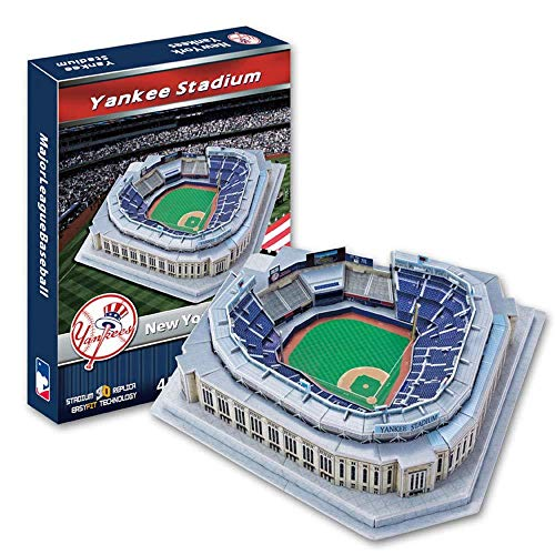 WAN 3D Sports Stadium Puzzle Model, MLB Home New Yankee Sports Baseball Field Model, Juguetes para niños (12 Pulgadas X13 Pulgadas X 4 Pulgadas)
