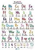 Buchstaben lernen: Wissenskarte laminiert für das Lesen lernen - zum Schulstart als Ergänzung zum Alphabet Poster