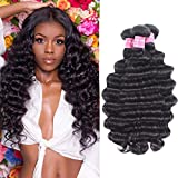 Beauty Forever Hair 8A Grade 100% Unprocessed Malaysian Loose Deep Wave virgin hair 3 Bundles Remy Human Hair Wave Natural Color Can Be Dyed and Bleached (12 14 16, 3 bundles)
