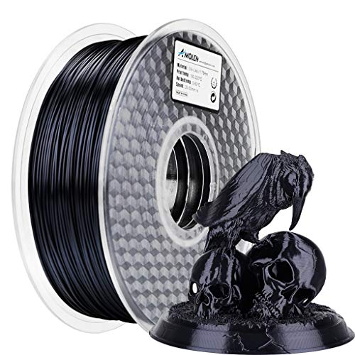 AMOLEN PLA Filament 1.75mm, 3D Printer Filament for 3D printer and 3D Pen, 1KG (Silk Black)