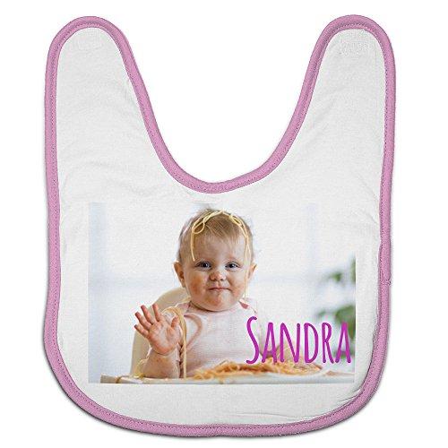 Babero Bebé Personalizado con tu Foto/Imagen/Nombre/Texto | Regalos Bebés Recién Nacidos Rosa