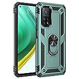 UILY Funda Compatible para Xiaomi Mi 10T Pro 5G, Carcasa Apoyo Giratorio 360° con Función Coche, Nivel Militar Anti-Caída Cáscara. Verde