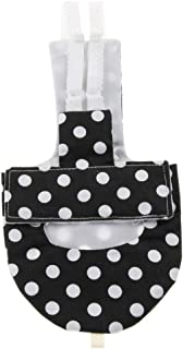 Kesoto Soft Bird Washable Pocket Cloth Diaper Nappies for Small Medium Large Birds - Black XL