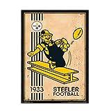 chtshjdtb Pittsburgh Steelers - Retro Logo Wandkunst Poster