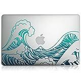 """kwmobile Adesivo compatibile con Apple MacBook Air 13"""" (2011-metà 2018) - Skin adesiva Stickers Pellicola autoadesiva per pc computer portatile Onde"""