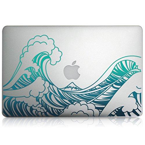 kwmobile 1 x Pegatina Olas Compatible conApple MacBook Air 13(2011-mediados de 2018) película Protectora para Zona Delantera