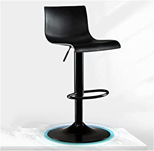 ZWJ-Bar Stool Swivel Barstools with High Back Adjustable Stools Chair Bar Chairs for Counter, Barstool Kitchen Indoor Outdoor (Color : Black, Size : 41cm Base)