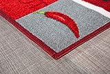 Andiamo 282565 Teppichläufer Küchenläufer Hot Pepper, Chili Schote, 67 x 200 cm, rot - 8