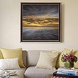 wZUN Carteles e Impresiones Abstractos creativos Arte Mural Lienzo Pintura Cielo Fuera de la Pared Alta decoración de la Sala Pintura 50x50 cm
