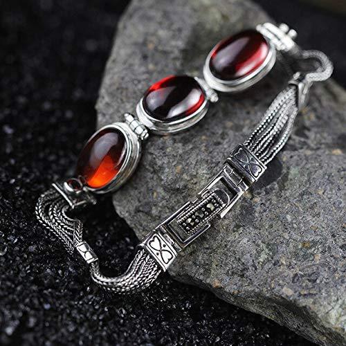 FUKAI Einfache 925 Sterling Silber Frauen Armbänder Armreif Mit Natürlichen Citrin Granat Chalcedon Inspirierende Armbänder Geschenk
