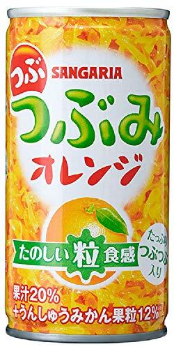 サンガリア つぶみオレンジ190g×30本