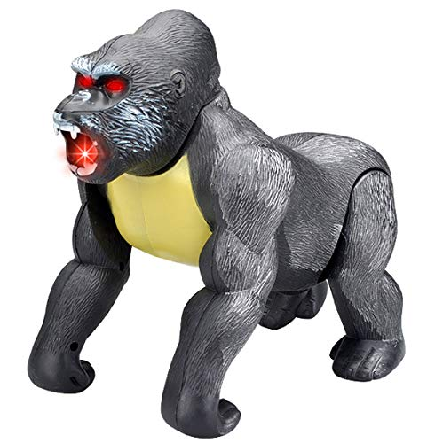 Liberty Imports Electronic Walking Gorilla Ape Animal Toy Monkey Kong with Lights and Sounds