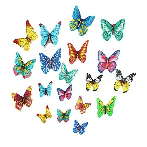DF Kuchen Backdekoration Gemischter Schmetterling essbarer Klebreiskuchen Reispapierkuchendekoration Für Hochzeit Baby Shower Dekoration Geburtstagsfeier (100 Stück)