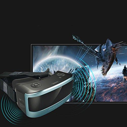 VR-one Lunettes de cinéma 3D Virtual Reality Jeu Casque Casque 1080P Huit-cœur CPU Sharp HD Panoramique Expérience ( Color : Bleu )