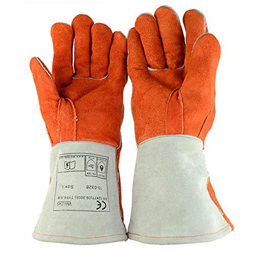 Ywlanlantrading Handschuh Bissfeste Handschuhe Anti-Biss-Schutzhandschuhe für Hund, Katze, Reptil, Tier Rindsleder Stichsichere Sicherheit Bisshandschuhe Haustiere Griffiges Beißen Schutzhandschuhe