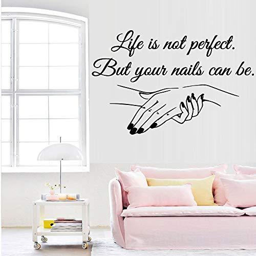 BFMBCH Squisito vinile applique nail art carta da parati sticker murale salone di bellezza decorazione applique femminile decorazione camera da letto in art wall stickerp caffè m 30 cm x 46 cm