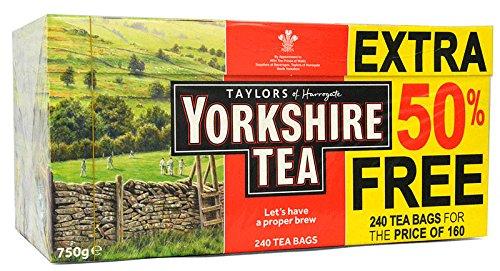 Yorkshire Tea 160+80=240 Teebeutel - 750g Tea Bags