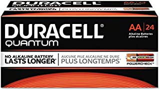 Duracell - Quantum Alkaline Batteries with Duralock Power Preserve Technology, AA, 24/Box QU1500BKD (DMi BX