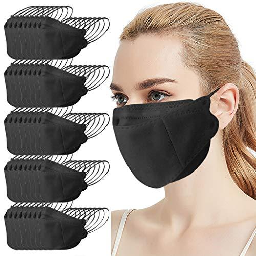 N/S Erwachsene Mundbedeckung für Damen Herren, Schwarz Einmalgebrauch Multifunktionstuch Nasenschutz Halstuch für Radfahren, Laufen, Nasen und Lippen Schutz, 40er Pack