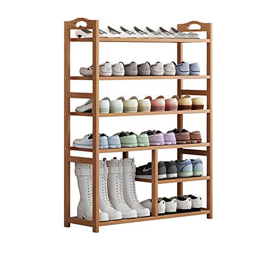 N / E Rack de Zapatos, 6 Niveles de Zapatos de Zapatos Organizador de Almacenamiento, fácil construcción, Pasillo, Dormitorio, Espacios pequeños