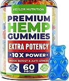 Hemp Oil Gummies - 3,000,000, 60 Sweets - Made in USA - Hemp Gummies with Omega 3-6-9 - Natural