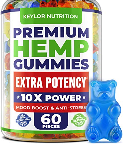 Hemp Oil Gummies - 3,000,000, 60 Sweets - Made in USA - Hemp Gummies with Omega 3-6-9 - Natural
