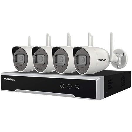 Hikvision Kit IP Inalámbrico 1080p / NVR 4 Canales / 4 Cámaras Bala para Exterior / 1 HDD de 1 TB/Modo Repetidor